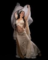 bellydancer Amber in white costume